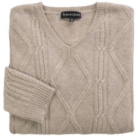 Bullock & Jones Cashmere-Silk Cable Sweater (For Men) in Natural