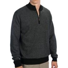 Bullock & Jones Cashmere Sweater - Zip Neck (For Men) in Black - Closeouts