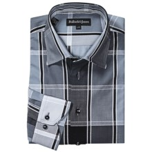 Bullock & Jones Charcoal Plaid Shirt - French Front, Long Sleeve (For Men) in Black/Grey - Closeouts