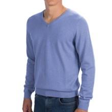Bullock & Jones Cotton-Cashmere Sweater - V-Neck (For Men) in Blue - Closeouts