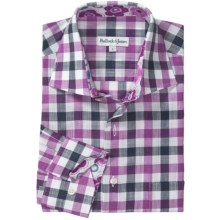 Bullock & Jones Cotton Check Shirt - Long Sleeve (For Men) in Pink/Navy - Closeouts