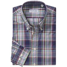 Bullock & Jones Cotton Shirt - Button Down, Long Sleeve (For Men) in Blue/Red/Green Plaid - Closeouts