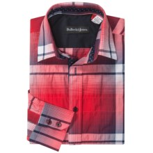 Bullock & Jones Fancy Shirt - Long Sleeve (For Men) in Red Mason Plaid - Closeouts