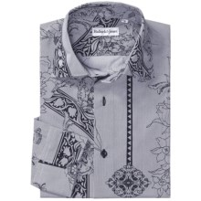 Bullock & Jones Floral-Print Shirt - Long Sleeve (For Men) in Charcoal Floral - Closeouts