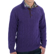 Bullock & Jones Modena Sweater - Button Neck (For Men) in Purple - Closeouts