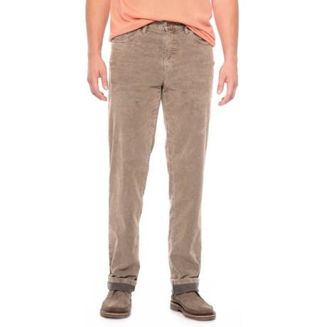 Bullock &  Jones Noah Five-Pocket Bi-Color Corduroy Pants (For Men) in British Khaki