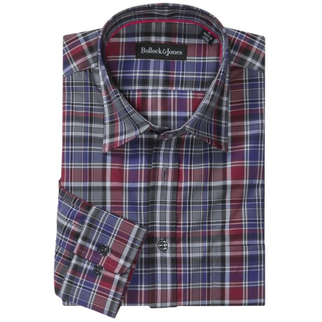 Bullock & Jones Phoenix Plaid Shirt - Long Sleeve (For Men) in Grey/Red/Blue