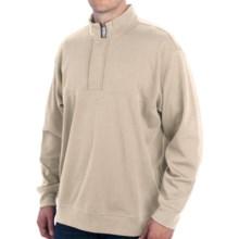 Bullock & Jones Pima Cotton Shirt - Zip Neck, Long Sleeve (For Men) in Ecru - Closeouts