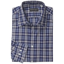 Bullock & Jones Point Collar Shirt - Long Sleeve (For Men) in Blue/White/Dark Blue - Closeouts
