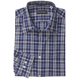 Bullock & Jones Point Collar Shirt - Long Sleeve (For Men) in Blue/White/Dark Blue