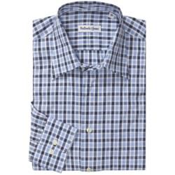 Bullock & Jones Point Collar Shirt - Long Sleeve (For Men) in Light Blue/Navy/Blue
