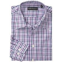 Bullock & Jones Point Collar Shirt - Long Sleeve (For Men) in White/Purple/Navy - Closeouts