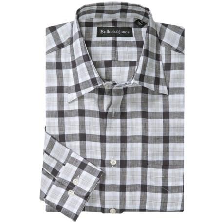 Bullock & Jones Richmond Plaid Shirt - Linen, Long Sleeve (For Men) in Black/White