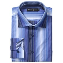 Bullock & Jones Stripe Shirt - Long Sleeve (For Men) in Blue/Dark Blue/White - Closeouts