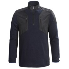 Bullock & Jones Zip Neck Pullover - Long Sleeve (For Men) in Black - Closeouts