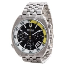 Bulova Accutron II Chronograph Quartz Watch (For Men) in Black/White/Stainless - Closeouts