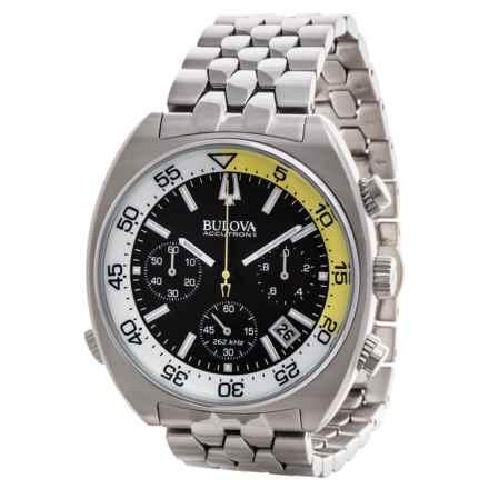 Bulova Accutron II Chronograph Quartz Watch (For Men) in Black/White/Stainless - Closeouts
