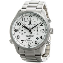Bulova Precisionist Chronograph Quartz Watch (For Men) in Silver/Stainless Steel - Closeouts