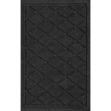 "Bungalow Flooring Water Guard Door Mat - 18x28"" in Charcoal Argyle - Closeouts"