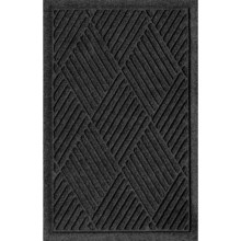 "Bungalow Flooring Water Guard Door Mat - 18x28"" in Charcoal Diamonds - Closeouts"