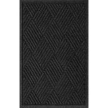 Bungalow Flooring Water Guard Door Mat - 2x3' in Charcoal Diamonds - Closeouts