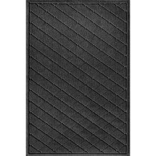 "Bungalow Flooring Water Guard Door Mat - 30x45"" in Argyle Charcoal - Closeouts"