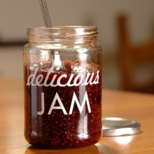 Burgon & Ball Printed Glass Jar in Delicious Jam - Closeouts