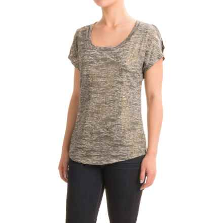 Burnout Foil T-Shirt - Scoop Neck, Short Sleeve (For Women) in Green - 2nds