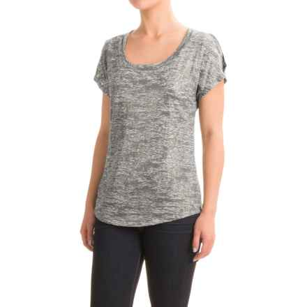 Burnout Foil T-Shirt - Scoop Neck, Short Sleeve (For Women) in Grey - 2nds
