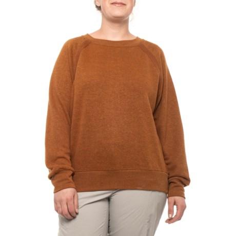 Image of Burnt Caramel Heather Cozy Up Sweatshirt (For Plus Size Women)