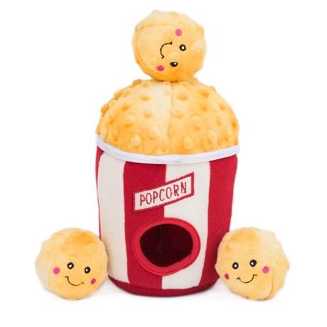 Burrow Popcorn Bucket Dog Toy - Squeaker