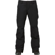 Burton Aero Gore-Tex® Snowboard Pants - Waterproof, Insulated (For Women) in True Black - Closeouts
