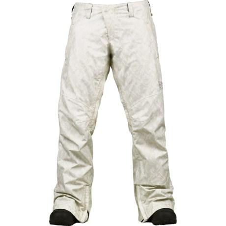 Burton AK 2L Stratus Gore-Tex® Snowboard Pants - Waterproof (For Women) in White Python