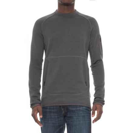 Burton AK Piston Polartec® Power Stretch® Crew Pullover Shirt - Long Sleeve (For Men) in Faded Heather - Closeouts