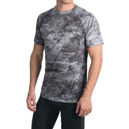 Burton AK Polartec® Power Grid® Crew Neck Shirt - UPF 50+, Short Sleeve (For Men) in Snow Akamo - Closeouts
