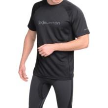 Burton AK Polartec® Power Grid® Crew Neck Shirt - UPF 50+, Short Sleeve (For Men) in True Black - Closeouts