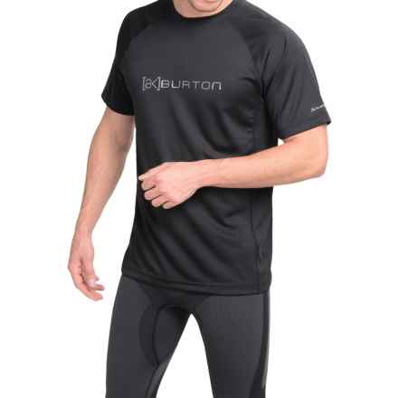 Burton AK Polartec® Power Grid® Crew Neck Shirt - UPF 50+, Short Sleeve (For Men) in True Black - Closeouts