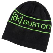 Burton AK Tech Beanie (For Men) in True Black - Closeouts