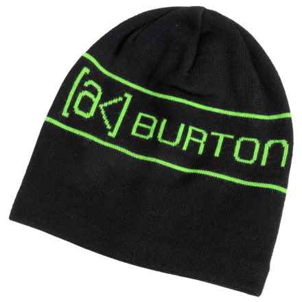 Burton AK Tech Beanie (For Men) in True Black - Closeouts