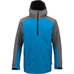 Burton AK Turbine Anorak Windstopper® Jacket - Zip Neck, Insulated (For Men) in Monoxide/Bluebird