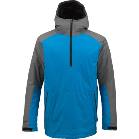 Burton AK Turbine Anorak Windstopper® Jacket - Zip Neck, Insulated (For Men) in True Black