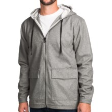 Burton Alder Hoodie - Wool Blend (For Men) in Monument Heather - Closeouts