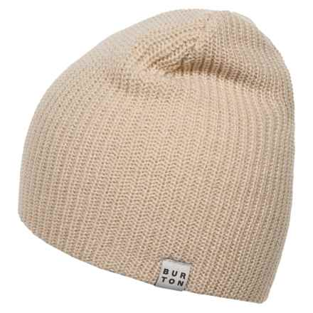 Burton All Day Long Beanie (For Men and Women) in Canvas - Closeouts