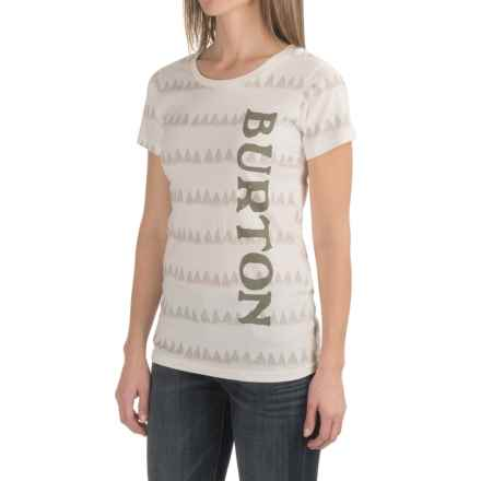 Burton Allagash T-Shirt - Short Sleeve (For Women) in Vanilla - Closeouts