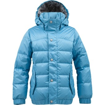 Burton Allure Puffy Down Snowboard Jacket - 550 Fill Power (For Girls) in Avatar