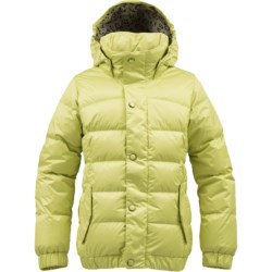 Burton Allure Puffy Down Snowboard Jacket - 550 Fill Power (For Girls) in Sunnylime