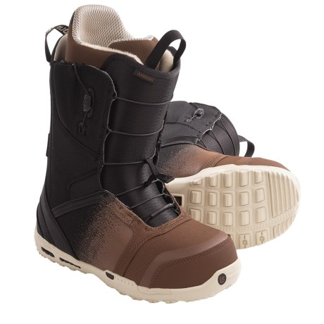 Burton Ambush Snowboard Boots (For Men) in Black/Brown