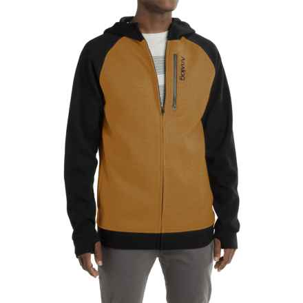 Burton Analog Forte Bonded Thermal Hoodie - Full Zip (For Men) in Copper - Closeouts