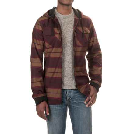 Burton Analog Integrate Flannel Shirt Jacket - Hooded (For Men) in Deep Purple - Closeouts
