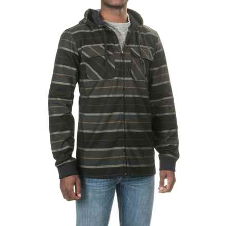 Burton Analog Integrate Flannel Shirt Jacket - Hooded (For Men) in True Black - Closeouts